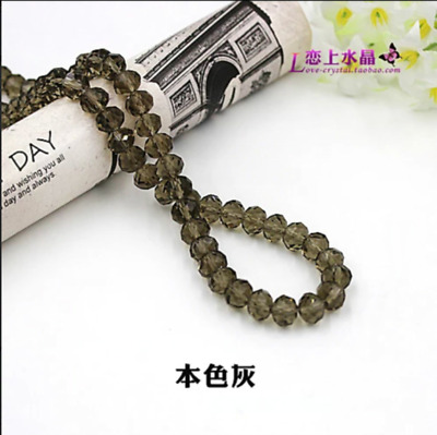 70 PCS 8mm Gray Crystal Faceted Loose Beads