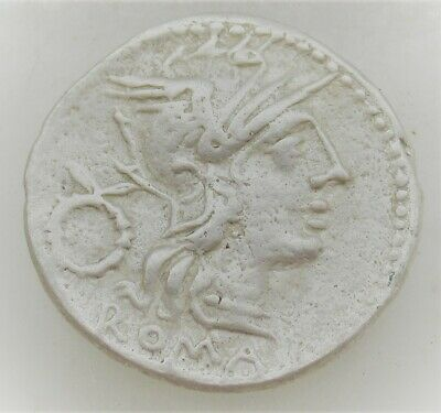 Unresearched Ancient Roman Republican Silver Denarius Coin