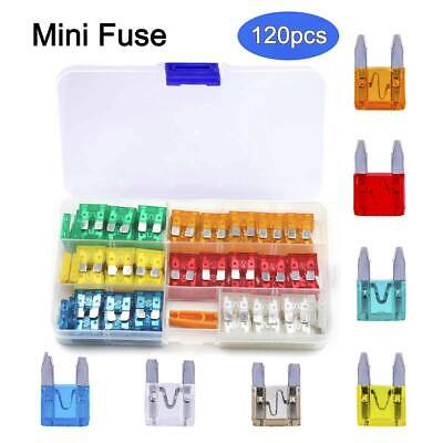 120Pcs Assorted Mini Fuse Blade 11mm with Clip for Car Boat Truck SUV Automotive