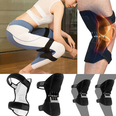 2x Patella Booster Spring Knee Brace Support For Mountaineering Squat Sports Gym