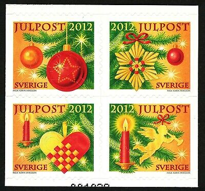 Sweden 2013  Block of four from booklet Christmas.  MNH