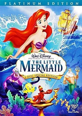 The Little Mermaid (DVD 2-Disc Set Platinum Edition) w/ Slipcover Free Shipping!