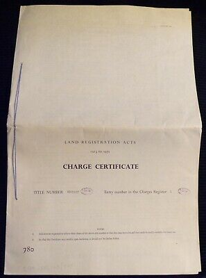 """H.M. Land Registry """"Charge Certificate"""" Property in Richmond-Upon Thames"""