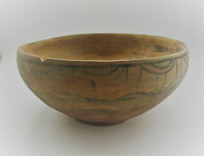 Ancient Indus Valley Harappan Painted Terracotta Pottery Bowl 2000Bce