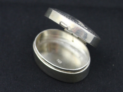 Vintage Pill Snuff Box Sterling Silver Ladies Gents 925 6.7g Ed2