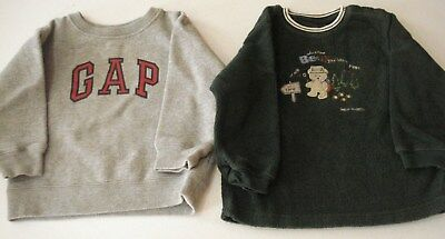 Toddler Boys Size 24 Months Shirts Long Sleeve Lot of 2 Carter's, Gap