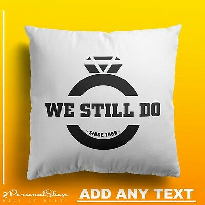 Personalised His And Her Pillowcase Printed Gift Custom Couple Print 2pcs Pair