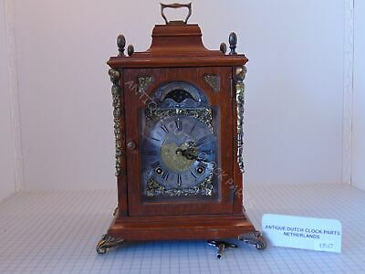 Dutch Warmink Table Clock With Double Bell
