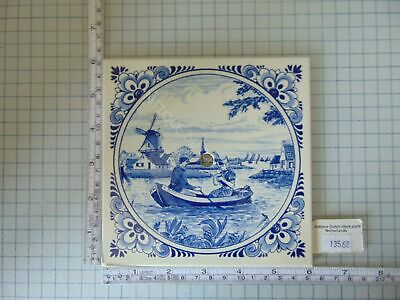 Original Blue Delft Dial Tile For Zaandam Or Zaanse Clock