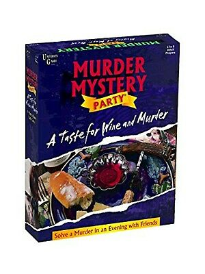 University Games Murder Mystery Party Games - A Taste for Wine and Murder 33202