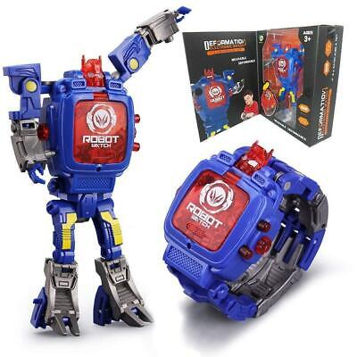 Robot Transformation Wristwatch Toy Mecha Robot Electronic Sports Watches G5Nd