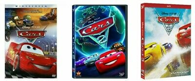 Cars 1, 2 & 3 Trilogy (3-Disney DVD Combo) Brand New & Sealed + Free Shipping!