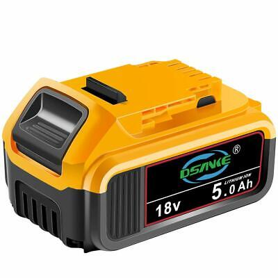 Sankett High Capacity 18V 5.0Ah XR Li-ion Compact Battery for DeWalt DCB184