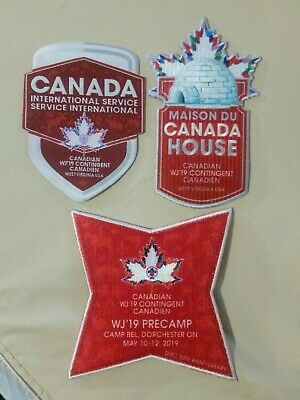 24th World Scout Jamboree 2019 Canada Canadian Contingent Patch Badge WSJ Lot