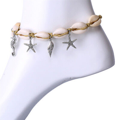 Boho Starfish Shell Anklet Ankle Sea Barefoot Sandal Beads Beach Foot Jewelry  R