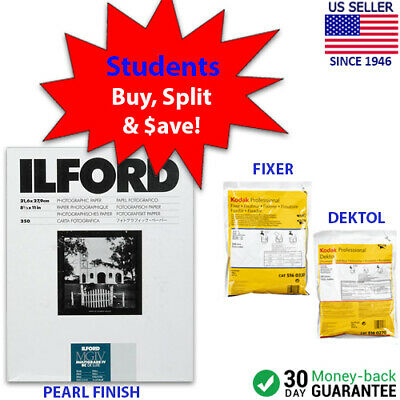 "STUDENT STARTER KIT Ilford MG IV RC DeLuxe Paper (Pearl, 8.5 x 11"", 250 Sheets)"