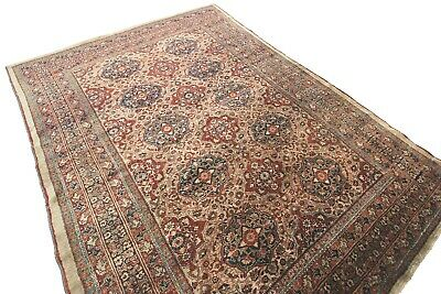 Mid 1800's Rare Antique Silk Heriz Rug Finest Masterpiece Rust 5X7 Rust