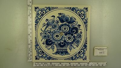 Floral Blue Delft Tile Dial For Dutch Zaandam Or Zaanse Clock