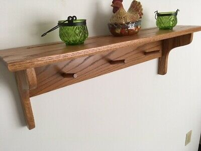 """Country Shelf, 36"""", Solid Oak, Amish / Mission style, For Home or Office"""