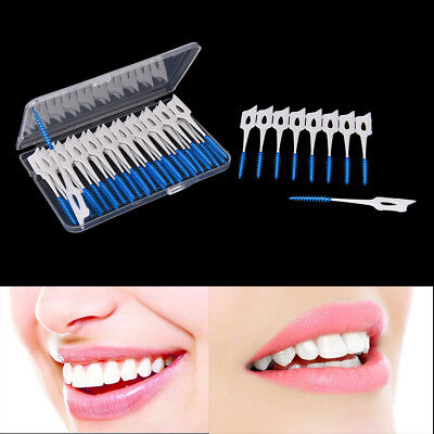 40pcs Disposable Toothpicks Soft Clean Interdental Seam Brush Elastic MassageFES