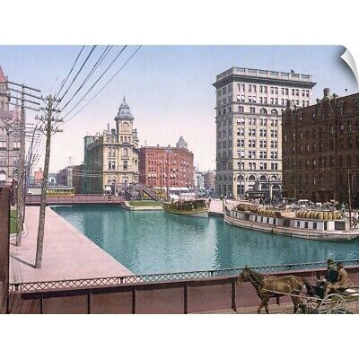 "Wall Decal ""Erie Canal at Salina Street Syracuse"""