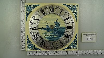 Medium Size Blue Delft Zaandam Or Zaanse Clock Dial Tile
