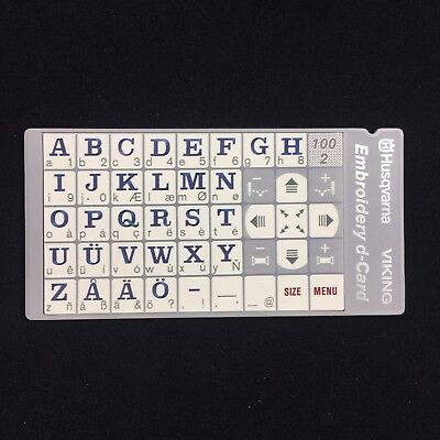Alphabet Letters Stitch D-Card 100-2  for Husqvarna Viking Sewing Machines