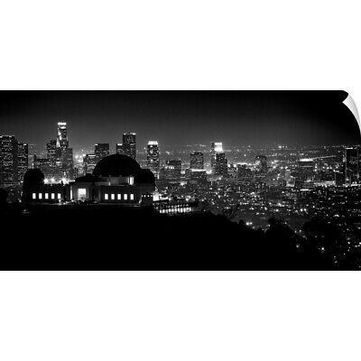 """View of Los Angeles at night from the Griffith Park Observatory"" Wall Decal"
