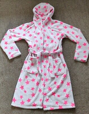 Next Girls Warm Fluffy Hooded Long Night Gown Night Wear Age 15-16 Years