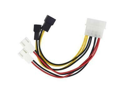 Molex to 3 pin fan cable for 4 fans