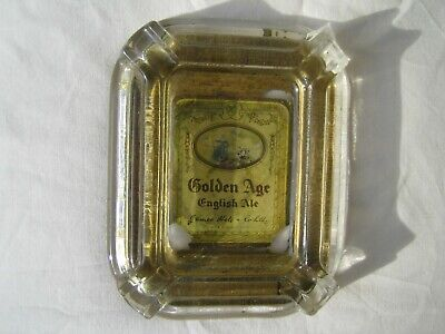 """Late 19th Century antique glass ashtray """"James Hole & Co Ltd"""" Castle Brewery"""
