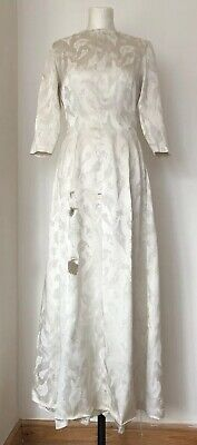 Vintage Used 1930s French Wedding Dress As Found For Remaking Craft Pattern