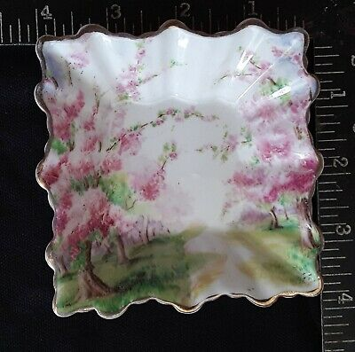 Royal Albert Crown China Made in England Blossom Time Small Square Dish see note