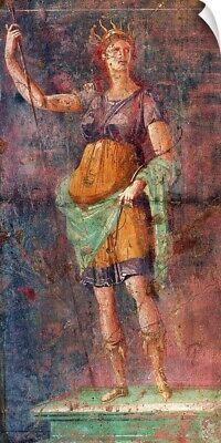 "Wall Decal ""Artemis. Ancient Roman Fresco, c. 50-99 BC. From Insula Occidenta"