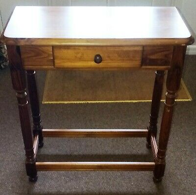 Side Table Vintage Pine Occasional  with Single Drawer & Lower Stretchers vpos