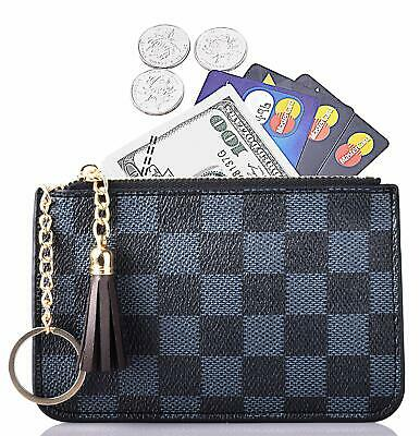 dd30ff8d3249 WOMEN COIN PURSE Leather Change Credit Card Holder Wallet with Key ...