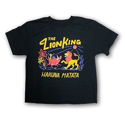 """Disney The Lion King """"Hakuna Matata"""" Women's Short Sleeve Crop Top New With Tags"""