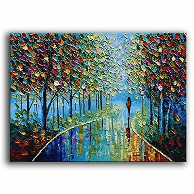 Yasheng Art -Landscape Oil Painting On Canvas Textured Tree Abstract Contemporar