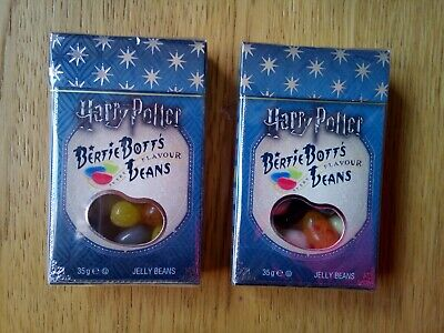 2 Boxes Of Harry Potter Bertie Botts Every Flavour Beans 35g By Jelly Belly