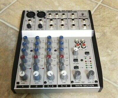 BEHRINGER EURORACK MX602A 6-Channel Mixing Console Mic