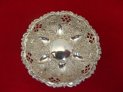 Excellent Pierced HM Silver Pin Tray Dish - Birm 1901 M.Bros - Not Engraved