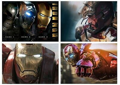 Marvel Comics: Iron man Avengers, Tony Stark A5 A4 A3 Textless Movie DVD Posters