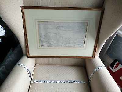 Antique French Art / Toile de Jouy 18th Cent. Fabric Picture, framed, ref A16