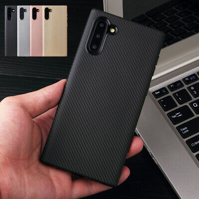 For Samsung Galaxy Note 10/Note 10 Plus Slim Carbon Fiber Soft Rubber Case Cover