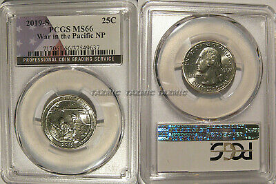 2019 S War in the Pacific NP Quarter 25c PCGS MS66 USA Flag