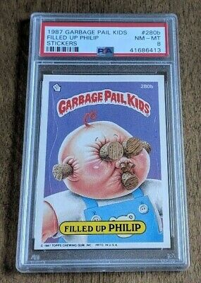 Garbage Pail Kids Garbage Pail Kids GPK Original Series 7 #280b Filled Up PHILIP  MINT Losse kaarten