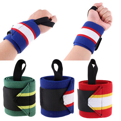 Wrist Wraps Weightlifting Exercise Wraps Wristbands with Thumb Loop