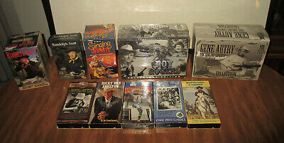 35 VHS VIDEO TAPE LOT WESTERN COWBOY MOVIE COUNTRY MUSIC RARE NEW classic dvd cd