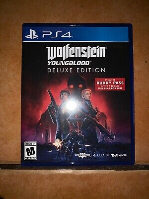 Wolfenstein: Youngblood PS4 PlayStation 4 Deluxe Edition w/Buddy Pass Intact