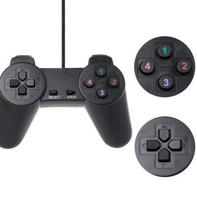 Wired Gamepad Game Controller Joypad USB for Laptop PC Computer PS1 Black T5N4R